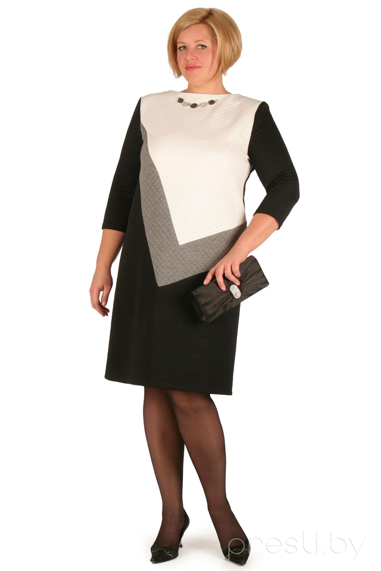 Платье Needle Ревертекс 141 черно-белые тона