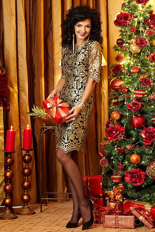 Платье Твой Имидж 1766S золотой