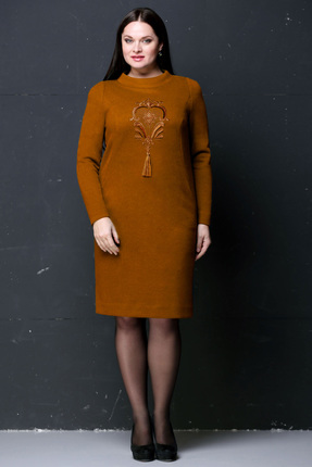 Купить Платье Golden Valley 4195 оранжевый, Платья, 4195, оранжевый, Полиэстер 70%, вискоза 25%, спандекс 5%, Мультисезон