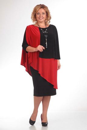 Платье Pretty 36 красный + чёрным