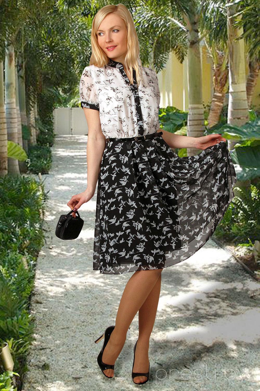 Платье Миа Мода 694 черный с белым