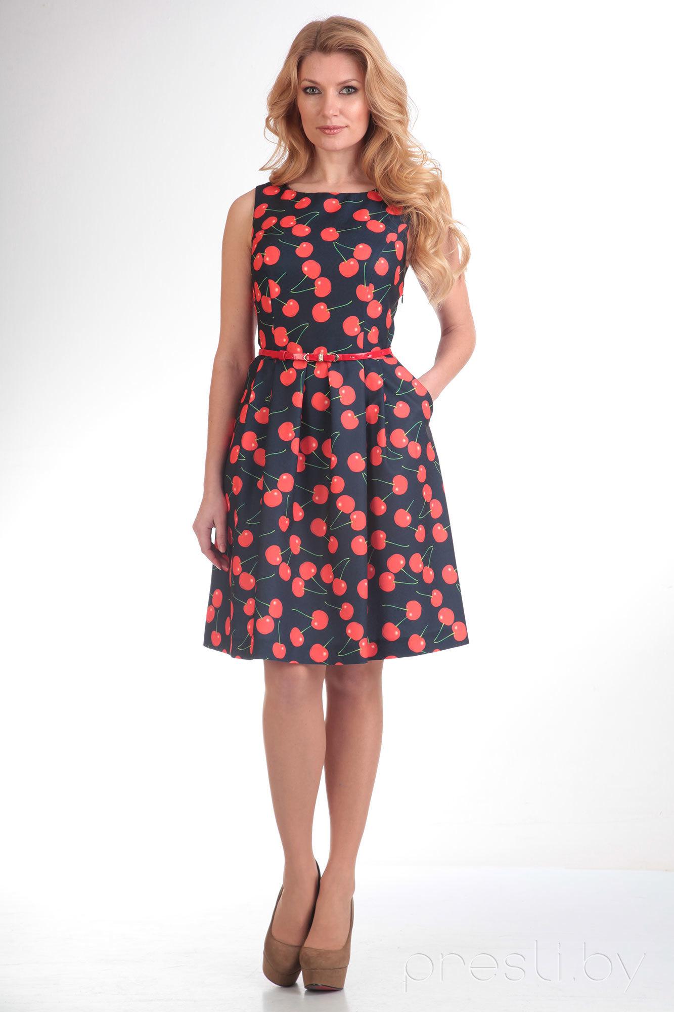 Платье SandyNa 13174 вишня