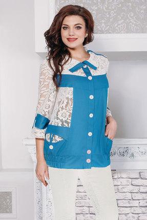 Купить со скидкой Куртка Дали 2004 бело-голубые тона