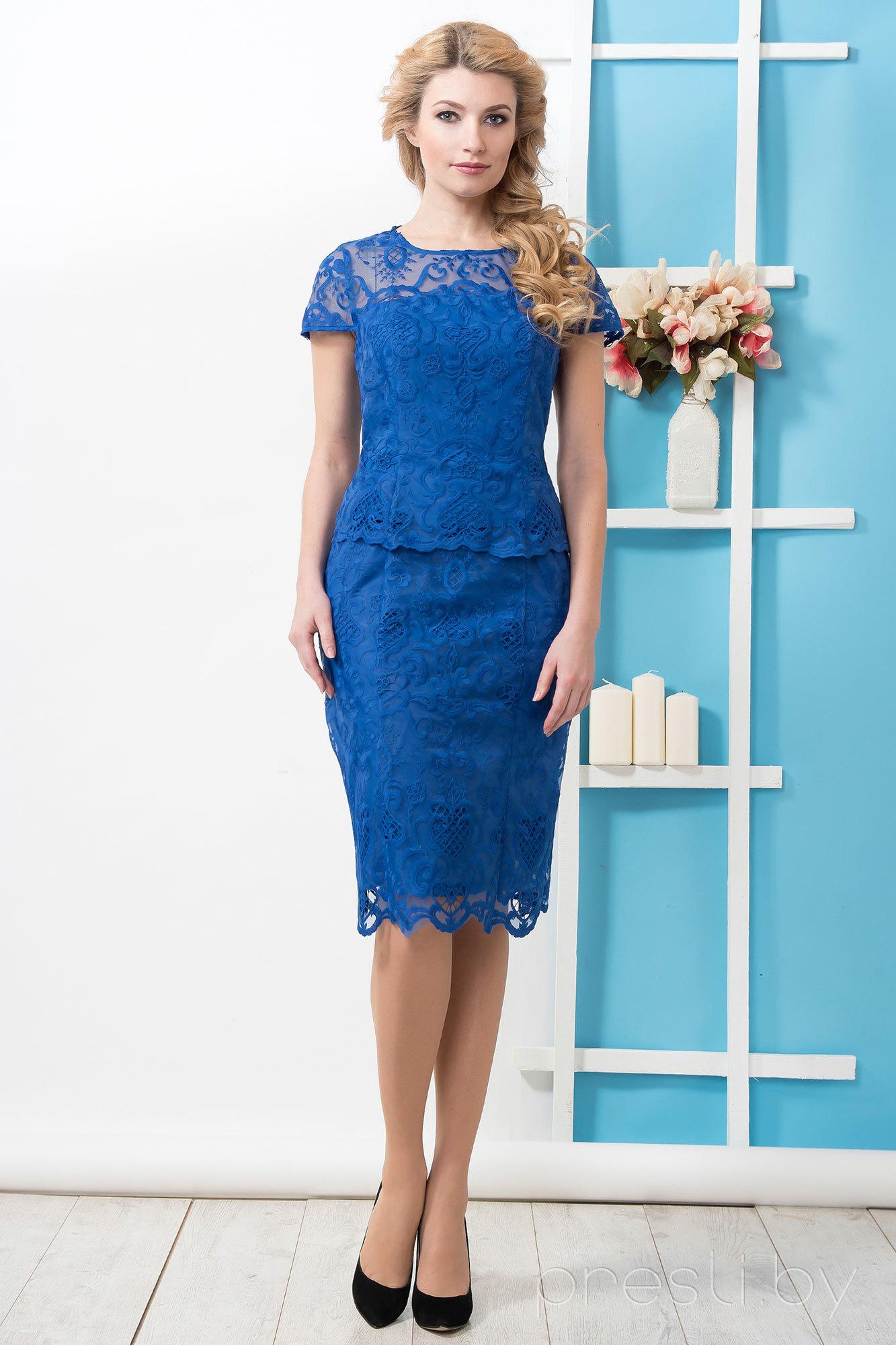 Платье РАСПРОДАЖА 13185-1 S василек