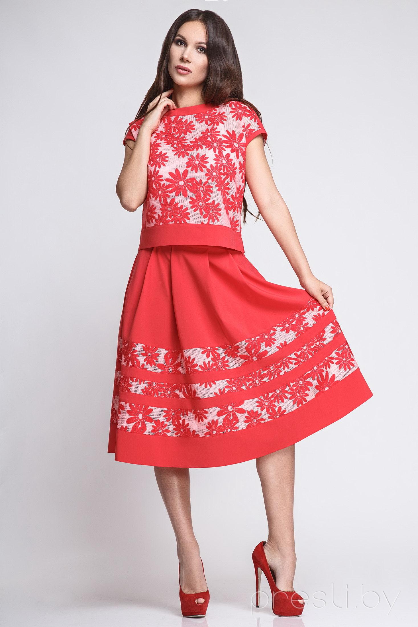 Комплект юбочный Teffi style 1199 красный