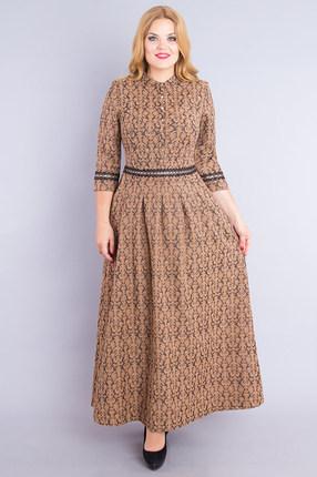 женское повседневные платье дали, коричневое