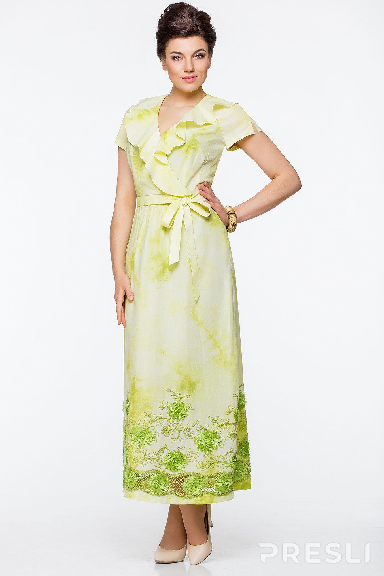 Платье Elady 2222 Оливка с белым