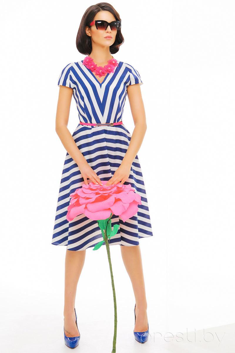 Платье Anna Majewska 918 сине-белый