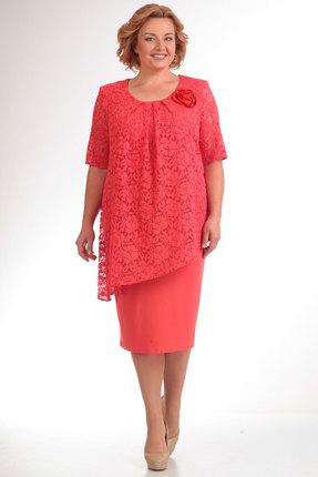 Купить Платье Pretty 390 коралл, Платья, 390, коралл, 96% полиэстр, 4% спандекс, Мультисезон