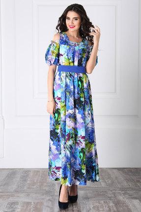 Купить Платье LaKona 955 василек, Повседневные платья, 955, василек, Хлопок 100%, Лето