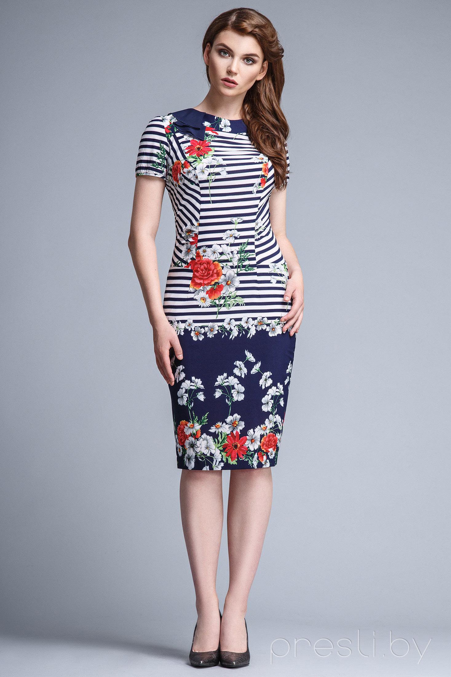 Платье Teffi style 1082 X полоска