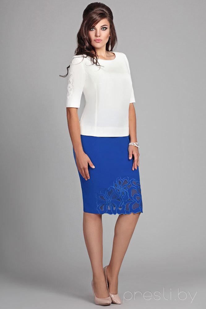Комплект юбочный Мублиз 013 сине-белый