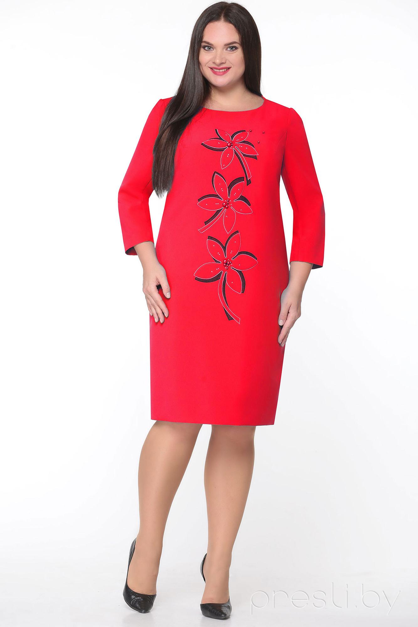 Платье Andrea Style 4018 X красный