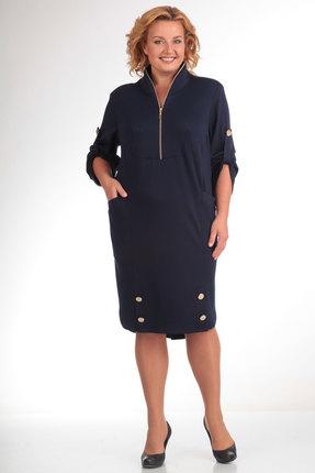 Платье Pretty 473 темно синий