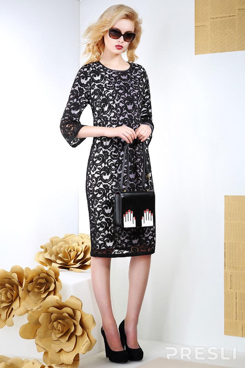 Платье Anna Majewska 945 X черно-белый