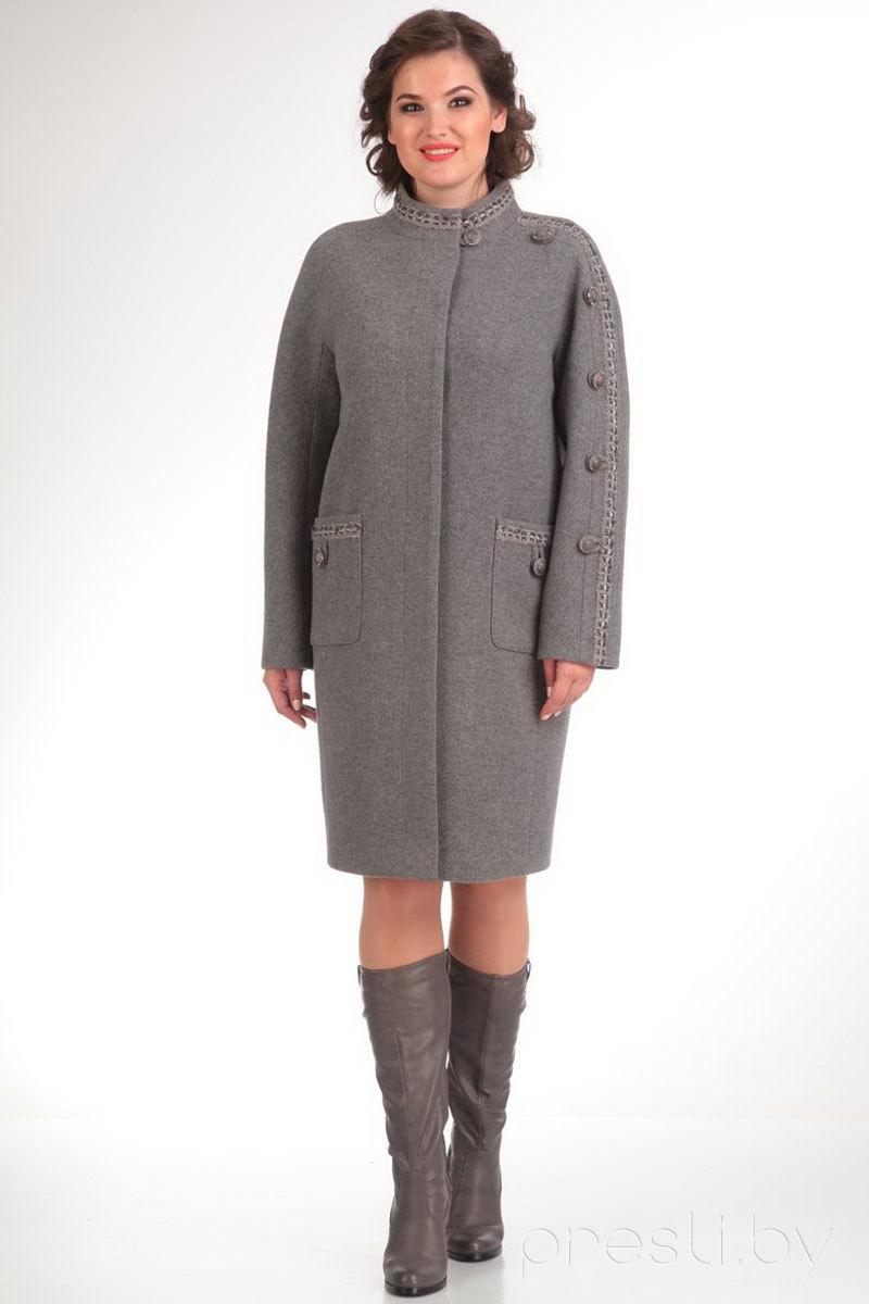 Пальто Диамант 1112 серый