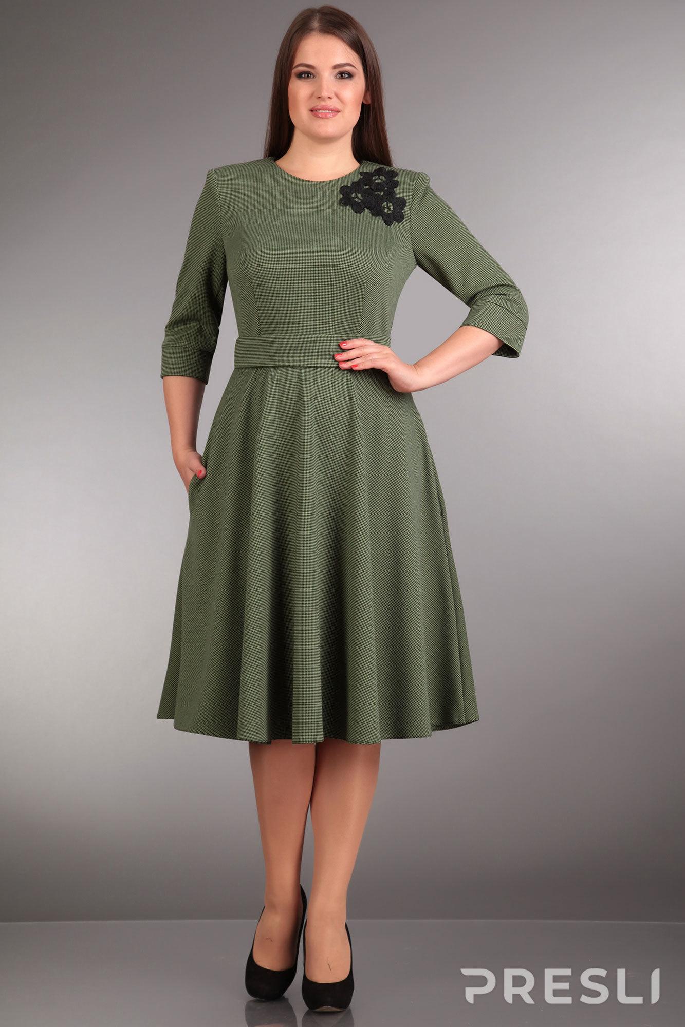 Платье Ива 853 зеленый