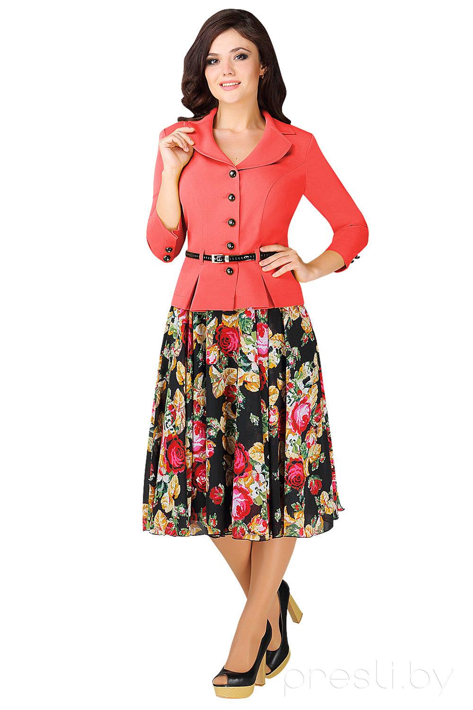 Комплект юбочный Мода-Юрс 2136 коралл