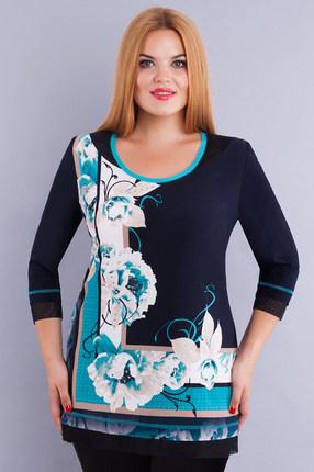 женская блузка дали, синяя
