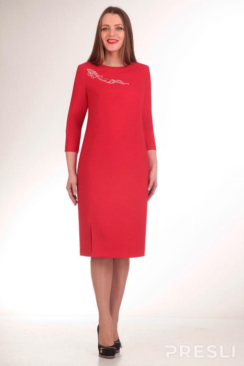 Платье Elga 01-453 вишня