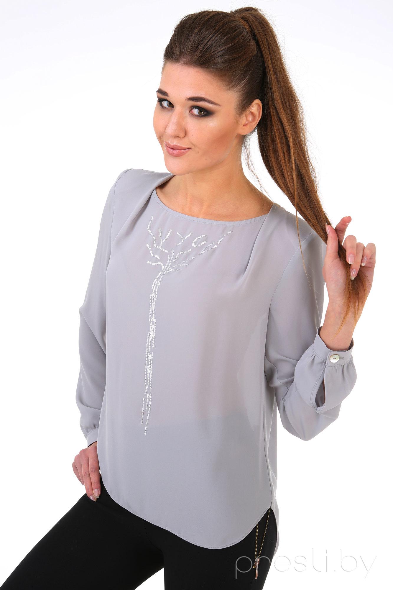 Блузка Линия-Л Б-1536 серый