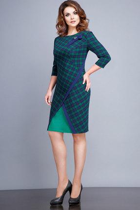Купить Платье JeRusi 16100а клетка , Платья, 16100а, клетка , ПЭ 66%+Вискоза 32%+Спандекс 2%, Мультисезон
