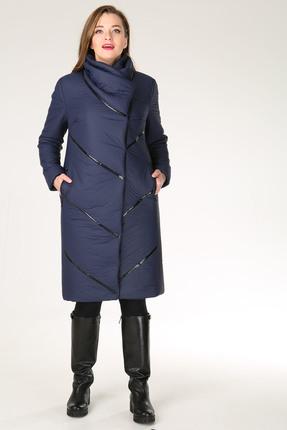 Купить со скидкой Пальто Диамант 1044 темно синий