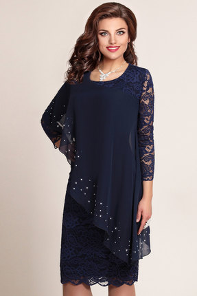 Купить со скидкой Платье Vittoria Queen 973/4 темно-синий