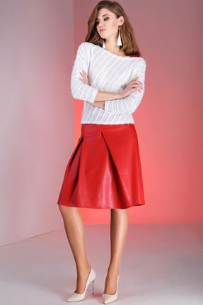 Комплект юбочный Ivelta plus 2400 молочный с красным