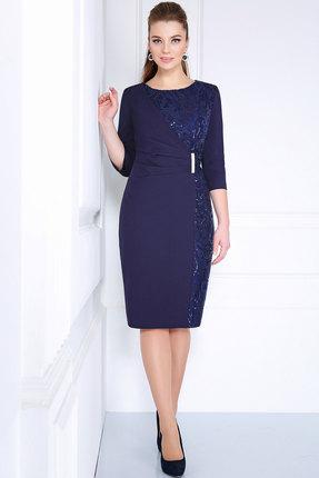 Купить Платье Matini 31044 синие тона, Платья, 31044, синие тона, Плательная ткань (92% пэ, 8% эластан), гипюр, , Мультисезон