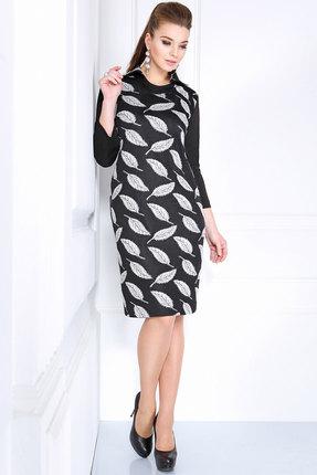 Купить Платье Matini 31031 черные тона, Платья, 31031, черные тона, Трикотаж (93% пэ, 7% эластан)., Мультисезон
