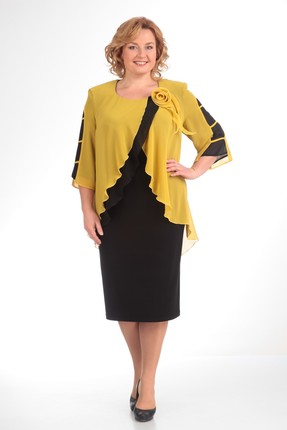 Купить Платье Pretty 520 желтый, Платья, 520, желтый, 96% полиэстр 4%спандекс, 100% полиэстр., Мультисезон