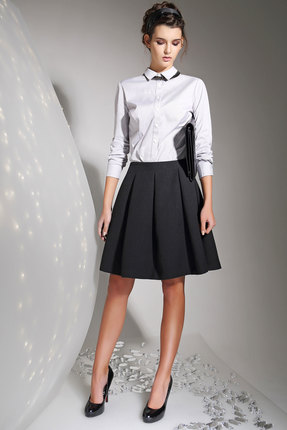 Купить Рубашка Anna Majewska 978 белый, Рубашки, 978, белый, Хлопок - 56%, эластан - 3%, ПЭ-41%, Мультисезон