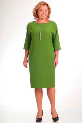 Купить Платье Elga 01-472 салатовый, Платья, 01-472, салатовый, 70% - ПЭ 25% - Вискоза 5% - Спандекс, Мультисезон