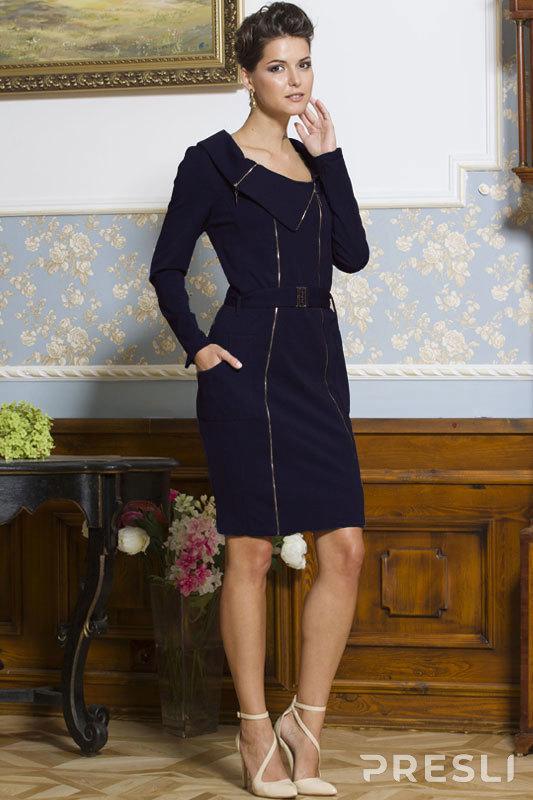 Платье Faufilure В823 темно-синий