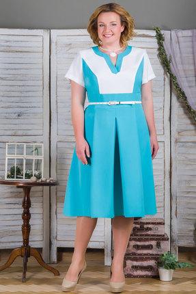 Купить Платье Aira Style 488 голубые тона, Платья, 488, голубые тона, Плательная ткань - лилу, Лето