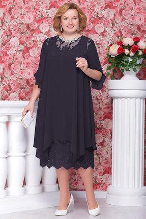Купить Платье Ninele 279 синий, Платья, 279, синий, ПЭ - 100%, Подкладка - масло ПЭ - 96% Спандекс - 4%, Мультисезон