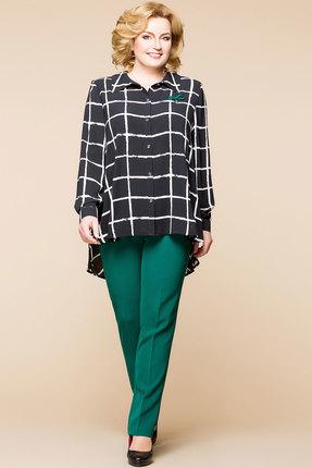 Купить со скидкой Комплект брючный Romanovich style 2-1437 черный с зеленым