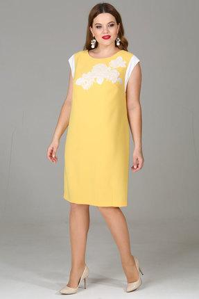 Купить со скидкой Платье Djerza 1340 желтые тона