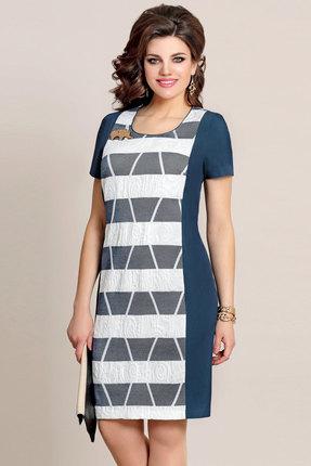 Купить со скидкой Платье Vittoria Queen 3093/1 синий с белым