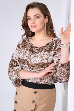 Купить Блузка Matini 4957 бежевые тона, Блузки, 4957, бежевые тона, 95% пэ, 5% эластан, Мультисезон