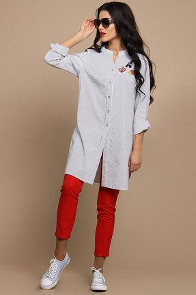 Комплект брючный Alani 505 полоска и красный