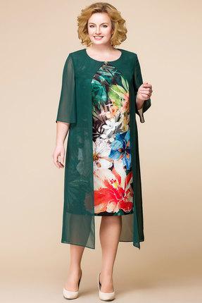 Платье Romanovich style 1-1485 зеленые тона
