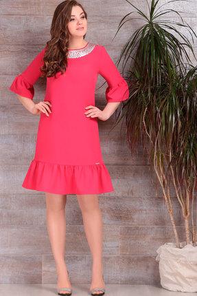 Купить Платье ТАиЕР 601 коралл , Платья, 601, коралл , вискоза 60%, полиэстер 37%, лайкра 3%, Мультисезон