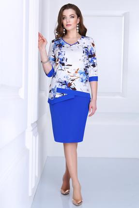 Купить со скидкой Платье Matini 31063 бело-синие тона