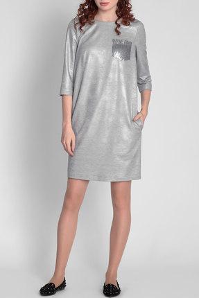Купить Платье Divina 1.376 серый меланж, Платья, 1.376, серый меланж, ПЭ 64%+Вискоза 34%+Эластан 2%, Лето
