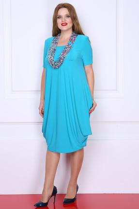 Купить Платье Milana 622-1 бирюзовый, Платья, 622-1, бирюзовый, Материал платья: Трикотажное полотно (масло); состав: ПЭ - 95%, спандекс 5%., Мультисезон