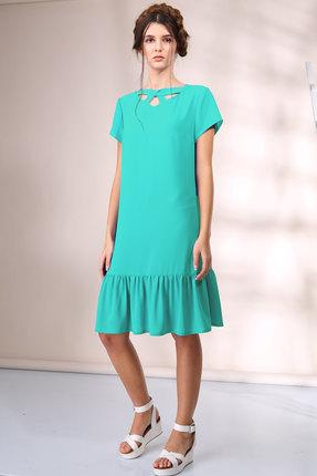 Купить Платье Golden Valley 4350 бирюза, Платья, 4350, бирюза, Тип ткани: текстильный, плательный, непрозрачный шифон - крэш (полиэстер 95%, спандекс 5%), Лето