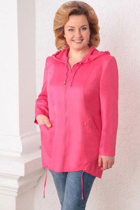 женская куртка асолия, розовая