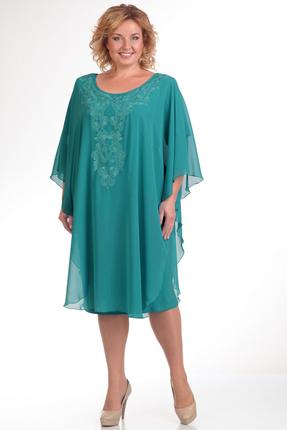 Купить Платье Pretty 341 бирюзовый, Платья, 341, бирюзовый, 96%полиэстр 4%спандекс, 100% полиэстр, Мультисезон